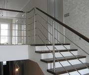 Недорогие и надежные перила и лестницы из нержавейки и дерева - foto 7